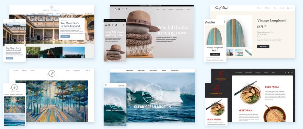 Bluehost Website Gallery